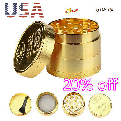 HOT Tobacco Herb Spice Grinder 4 Piece Herbal Alloy Smoke Metal Chromium Crusher