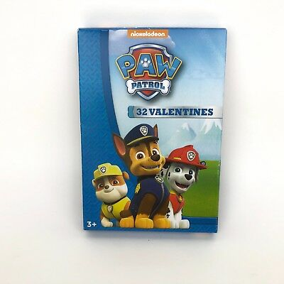 Chase Classroom Exchange Cards with Marshall 1 Box Skye and Everest Paw Patrol 32 Valentines Rubble