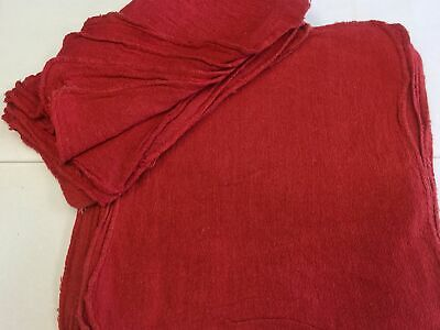 1000 Pack New Industrial Shop Rags / Cleaning Towels Red Color 15X14