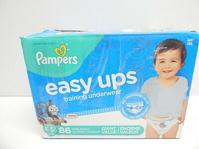Pampers Easy Ups Training Boys Underwear, Size 6 4T-5T, 86 Count BOX DAMAGE