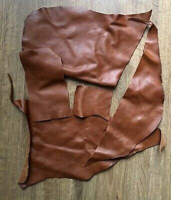 Upholstery Quality Leather Off-Cuts/Remnants (CHESTNUT/BROWN) Arts & Crafts 900g