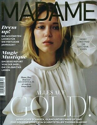 Madame Heft 12/2018 - Lea Seydoux, Dakota Johnson, Alba August, City Guide Tokio