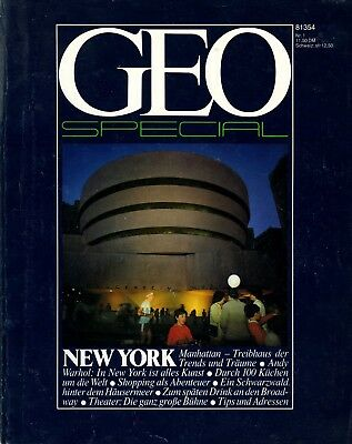 GEO Special 1/1981 - New York / Andy Warhol, Long Island, Central Park