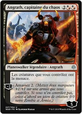 MTG Magic WAR - (x2) Angrath, Captain of Chaos/capitaine du chaos, French/VF