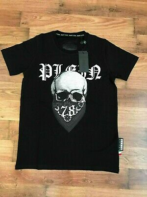 380e181fc2c Philipp Plein, Skull,Embellished Crystal,Stretch Cotton, Black T-Shirt,