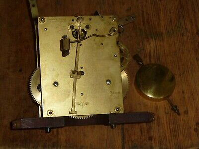 Vintage German mantel/bracket striking clock movement with pendulum - for spares