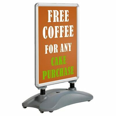A1 Waterbase Pavement Poster Sign A-Board Holder - Snap Frame Shop Display Stand