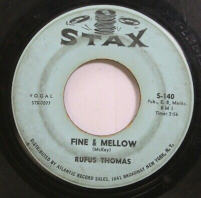 Soul 45 Rufus Thomas - Fine & Mellow / Walking The Dog On Stax