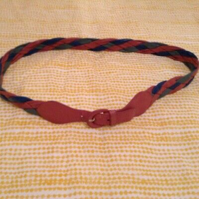 Vintage Jaeger Real Leather Plaited Belt 30""