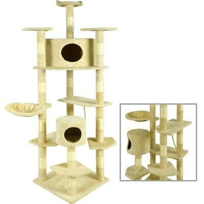 "New Beige 80"" Cat Tree Condo Furniture Scratching Post Pet Cat Kitten House"