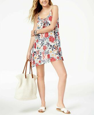 4f8822084c Roxy Multi Color Softly Love Lace Up Swimsuit Cover Up Dress Medium NEW!  NWT!