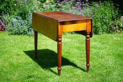 Very Nice Antique Late Georgian C.1830 Mahogany Drop Leaf Pembroke Table