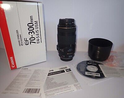 Canon EF 70-300mm F/4-5.6 IS USM Lens, Boxed MINT condition, unused