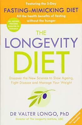 The Longevity Diet by Longo, Dr Valter, NEW Book, FREE & Fast Delivery, (Paperba