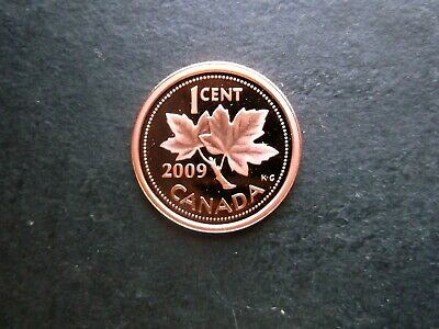 2009 Canada 1 Cent Non Magnetic Proof Penny-Deep Cameo