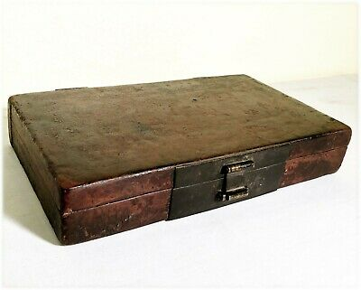 Antique Chinese Leather Box (2920), Circa mid of 19th century