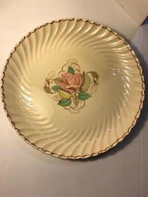 Susie Cooper Patricia Spiral Rose England Large Round Serving Platter 13 1/8""