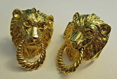MIMI DIN 1975 Lion Door Knocker Belt Buckle Set  1=Hook 1=Latch + Bars