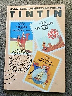 TinTin VOLUME 3 Herge CRAB WITH GOLDEN CLAWS Shooting Star SECRET OF THE UNICORN