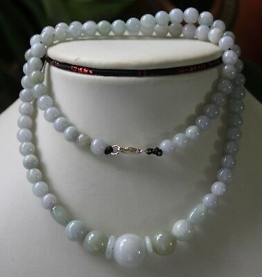 Genuine 100% Natural Jade Grade A Beautiful Light Lavender Jadeite Necklace 20""