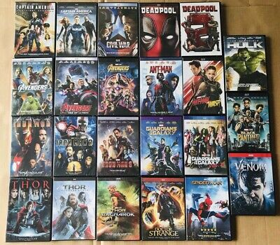 14 MARVEL DVD Lot Movie Avengers Collection Hulk Ant-man and