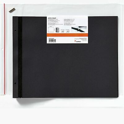 PA112 photo album REFILLS for Lino large 39x31cm, 10 black leaves (20 pages)