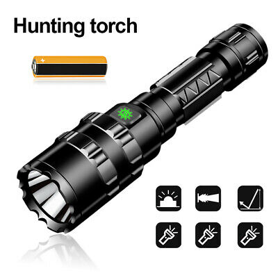 Military L2 LED Flashlight USB waterproof Aluminum alloy Hunting Torch Lamp New