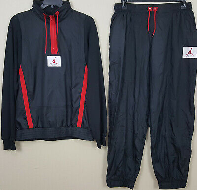 3b3ab1a66d1 Nike Air Jordan Iv Retro 4 Flight Suit Jacket +Pants Black Red (Size Large