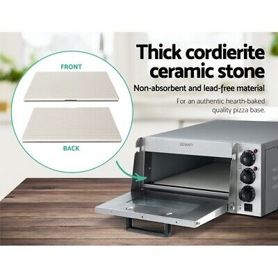 Commercial Pizza Deck Oven Countertop Electric Stone Base Pizza Making Cooking