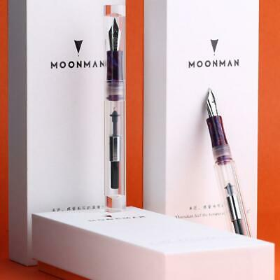 New Moonman C1 Transparent Clear Fountain Pen Eyedropper Converter Ink Pen Gift