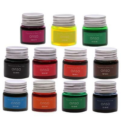 20ml Authentic Pure Colorful Ink Fountain Pen Writing Ink Refill Glass Bottles