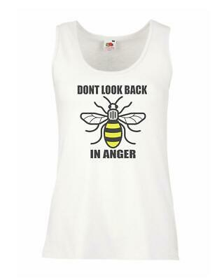 Ladies White Manchester Bee Don't Look Back In Anger Vest