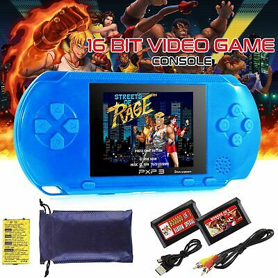 16 Bit PXP3 Handheld Portable Video Game Console 150+ Games for Kids + 2 Cards