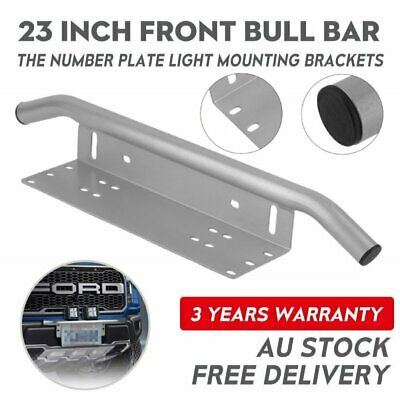 Number Plate Bullbar Frame Driving Light Bar Car Mounting Bracket Silver AU Ship