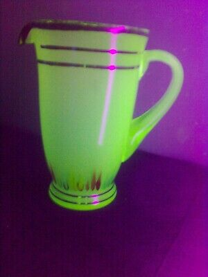 Green frosted uranium glass water jug !