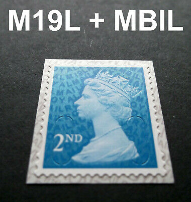 2019 2nd Class M19L + MBIL MACHIN SINGLE STAMP from Business Sheets