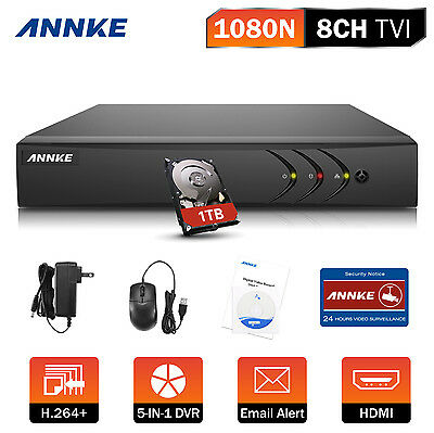 ANNKE 8Ch Channel H.264+ 960H HD 720P 1080P CCTV 5IN1 DVR Camera System Motion