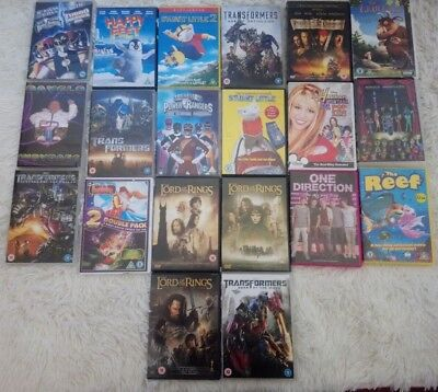 Big Bundle DVD's 19 Childrens Sci Fi Transformers Lord Of The Rings Etc S3