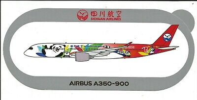 New A350-900 Sichuan Airlines Panda Route 2Nd Modele Sticker Autocollant Airbus
