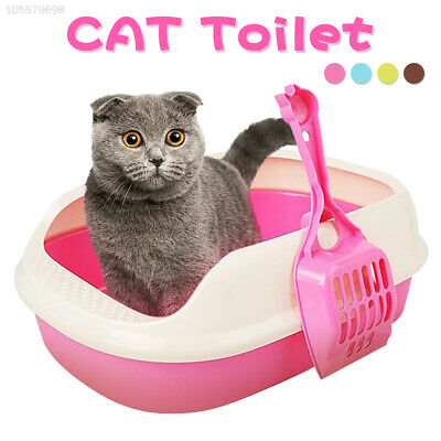 Cat Litter Box Plastic Pet Supplies Durable Portable Cat Tray Toilet Litter Box