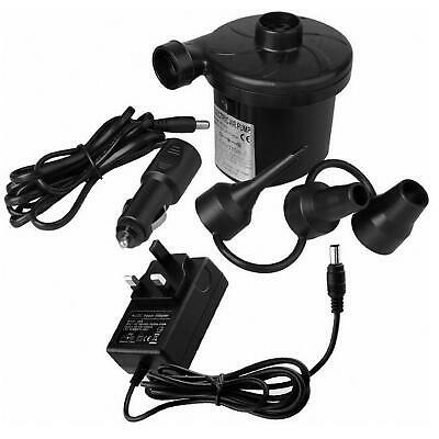 240v/12v Mini AC/DC Electric Air Pump Inflator Camping Airbed Pool Deflator