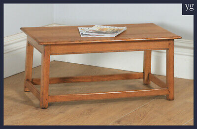 Antique George V Arts & Crafts Oak Rectangular Coffee Centre Occasional Table