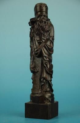 Chinese eaglewood hand-carved eight immortals chang kuo-lao immortal Statue