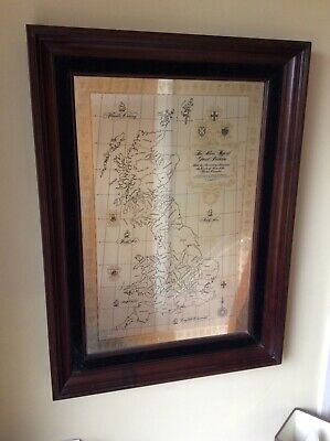 """Solid Silver Map of Great Britain 27""""x20""""  HallMarked , 24 ct Gold, Lord Henley."""