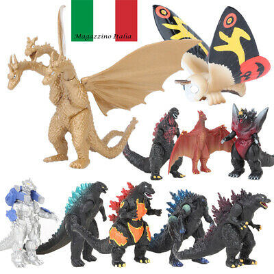 10 Pzi Action Figure King Of The Monsters Godzilla Mostro Collezione Toy 5Cm-6Cm