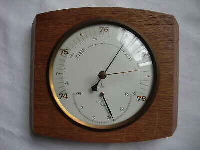 "Altes "" LUFFT ""  BAROMETER mit THERMOMETERNr. 574/5, 19 x 14 cm, 12 cm d."
