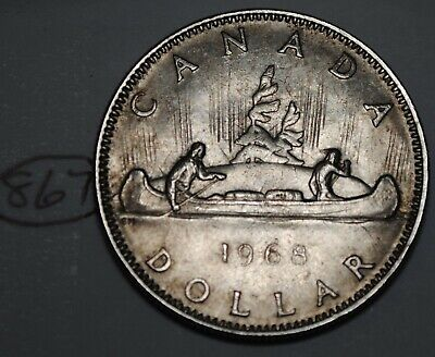 Canada 1968 Nickel Dollar Elizabeth II Canadian Voyageur $1 Lot #867
