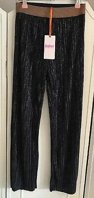 Ted Baker Navy Rose Gold Foil Ombre Pleated Coulotte Trousers Age 10 years New