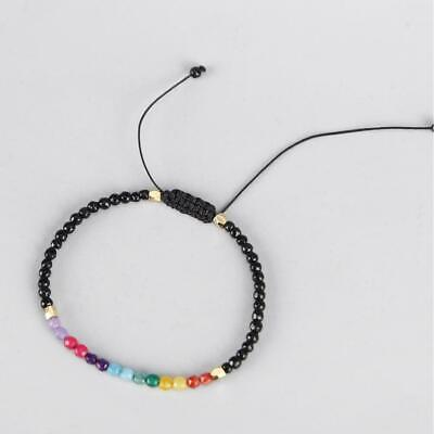 Women 12 constellation Lucky Stone Bracelet Beads Simple 3mm Beads Adjustab Z6S8