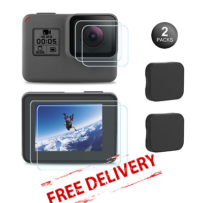 Screen Protector For GoPro Hero 7 Tempered Glass Film Lens Cover 9H Hardness